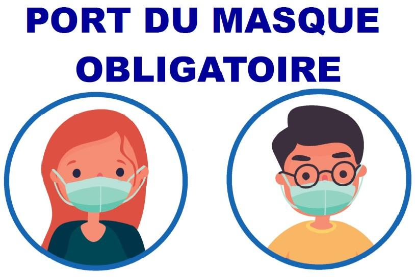 Affiche masques mairie